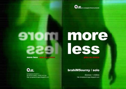 studio irresistible - graphic - Dossier de presse théâtre - More Less - Brahim Sourny