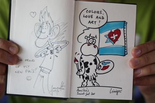 studio irresistible - news - Festival du Dessin de presse et de la caricature de Saint Just le Martel - 2011 - Jérôme Liniger - Nicolas Jacquette