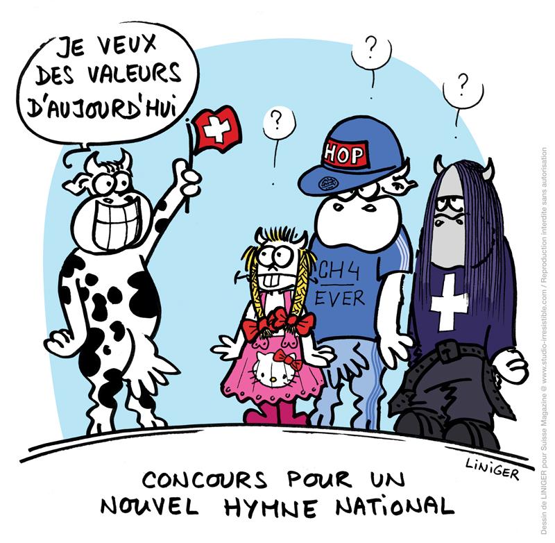 studio-irresistible - dessin de presse LINIGER un nouvel hymne national suisse 2014-03_5