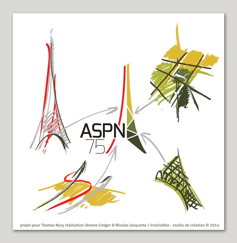 Studio irresistible Logo recherches cartographie aspn 75