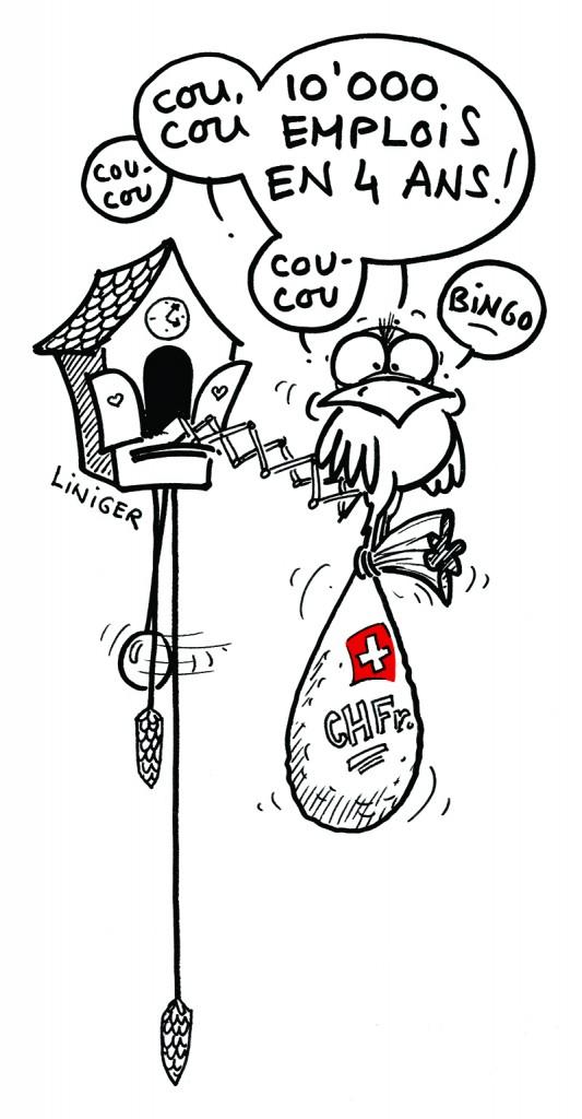 Dessin de presse - Liniger - Coucou-suisse