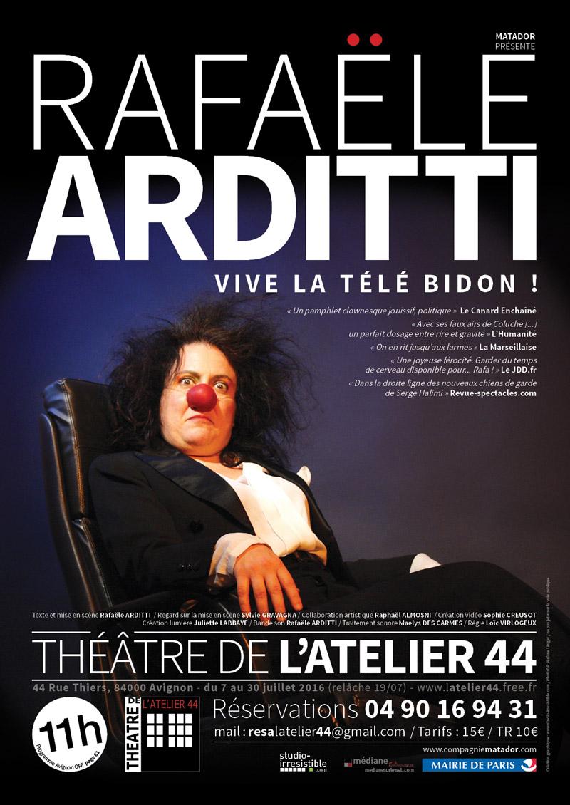 studio-irresistible_rafaële-arditti_vive-la-télé-bidon_affiche