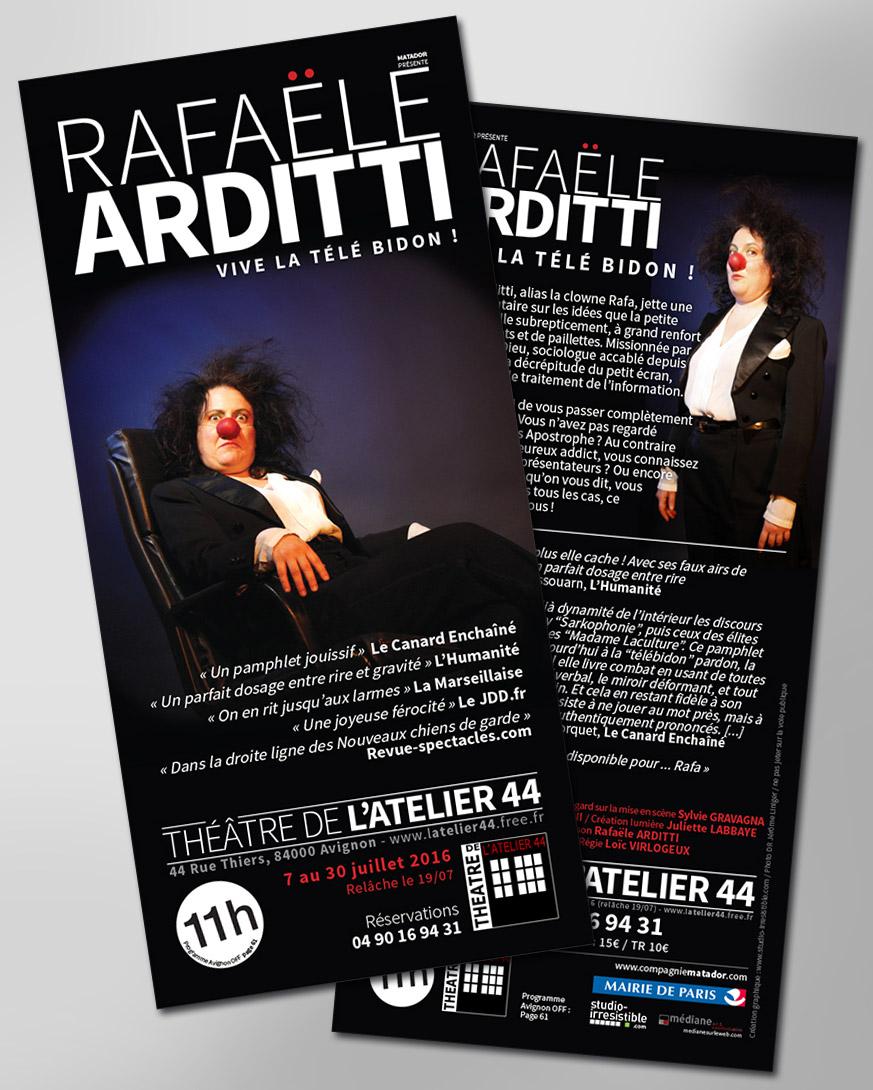 studio-irresistible_rafaële-arditti_vive-la-télé-bidon_flyer