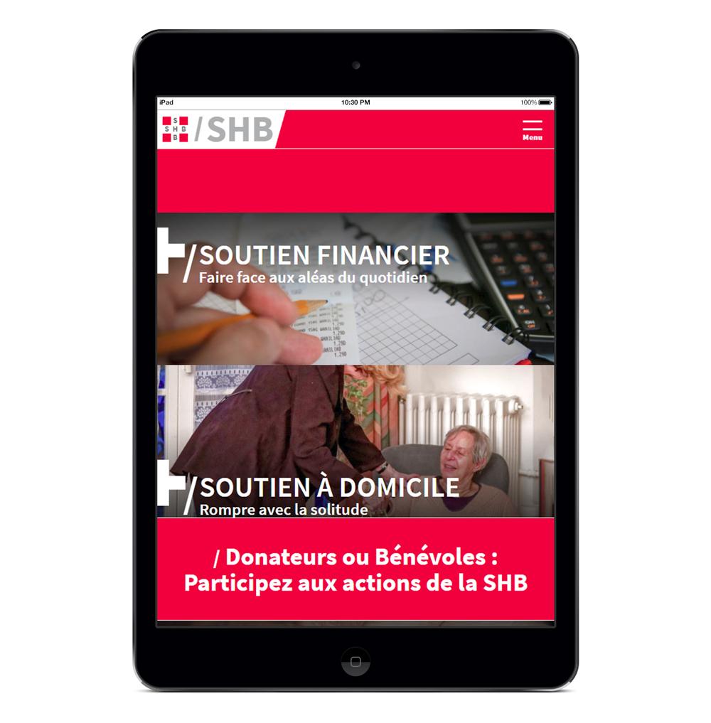 SHB Société Helvétique de Bienfaisance Agence Si studio irresistible Web Design