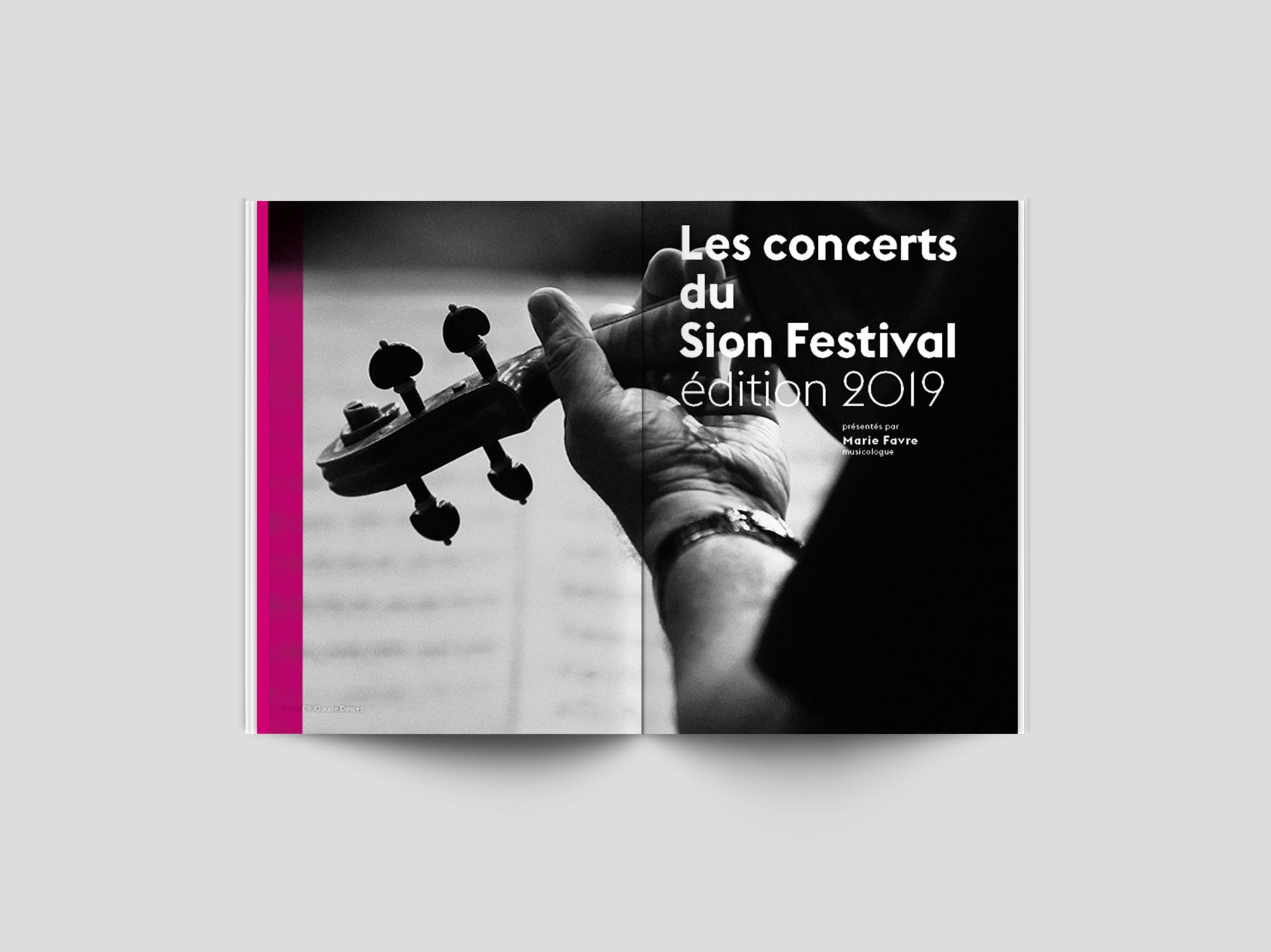 Sion Festival 2019 par l'Agence Si Paris Livret programme