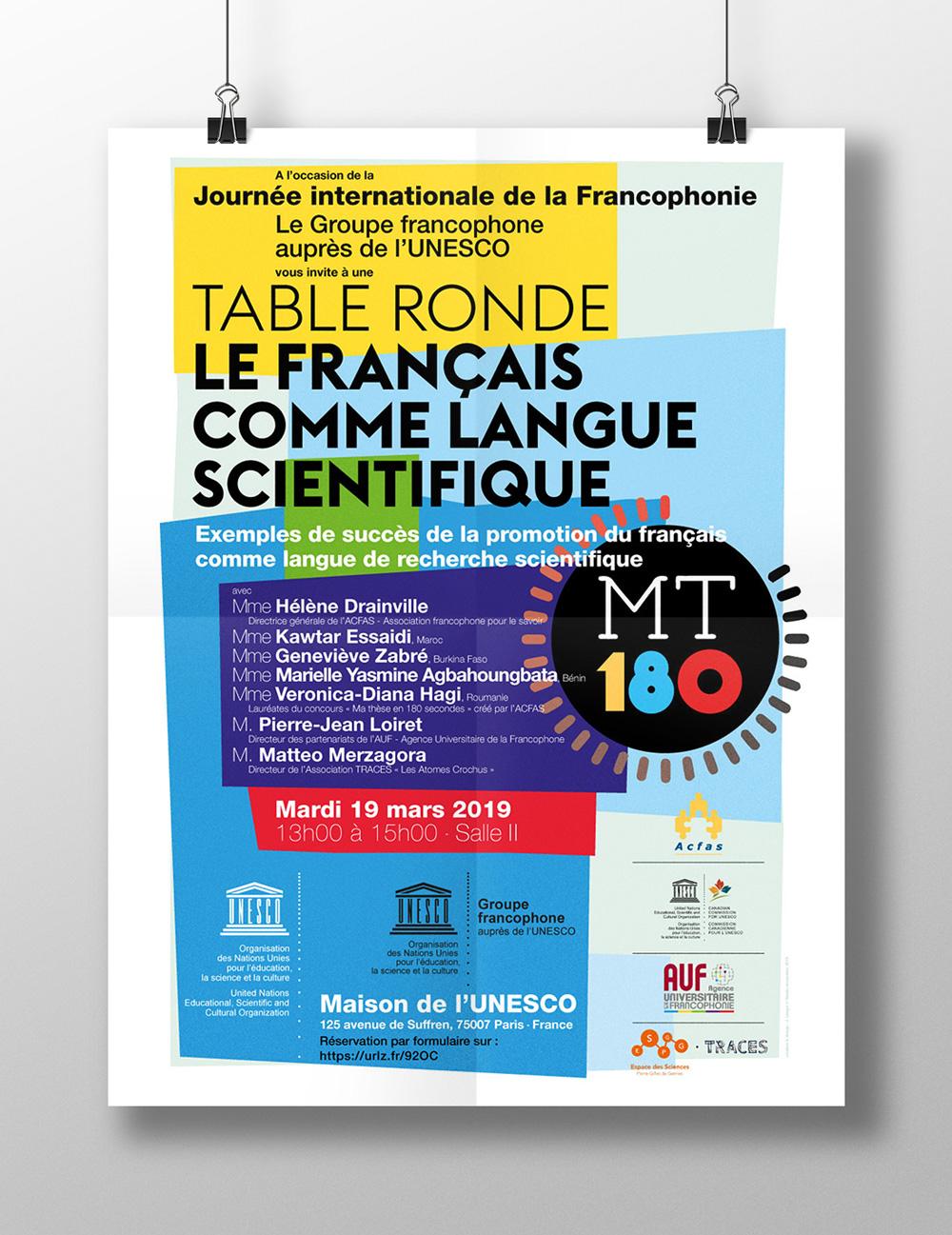 UNESCO Francophonie Communication Agence Si - Affiche MT180