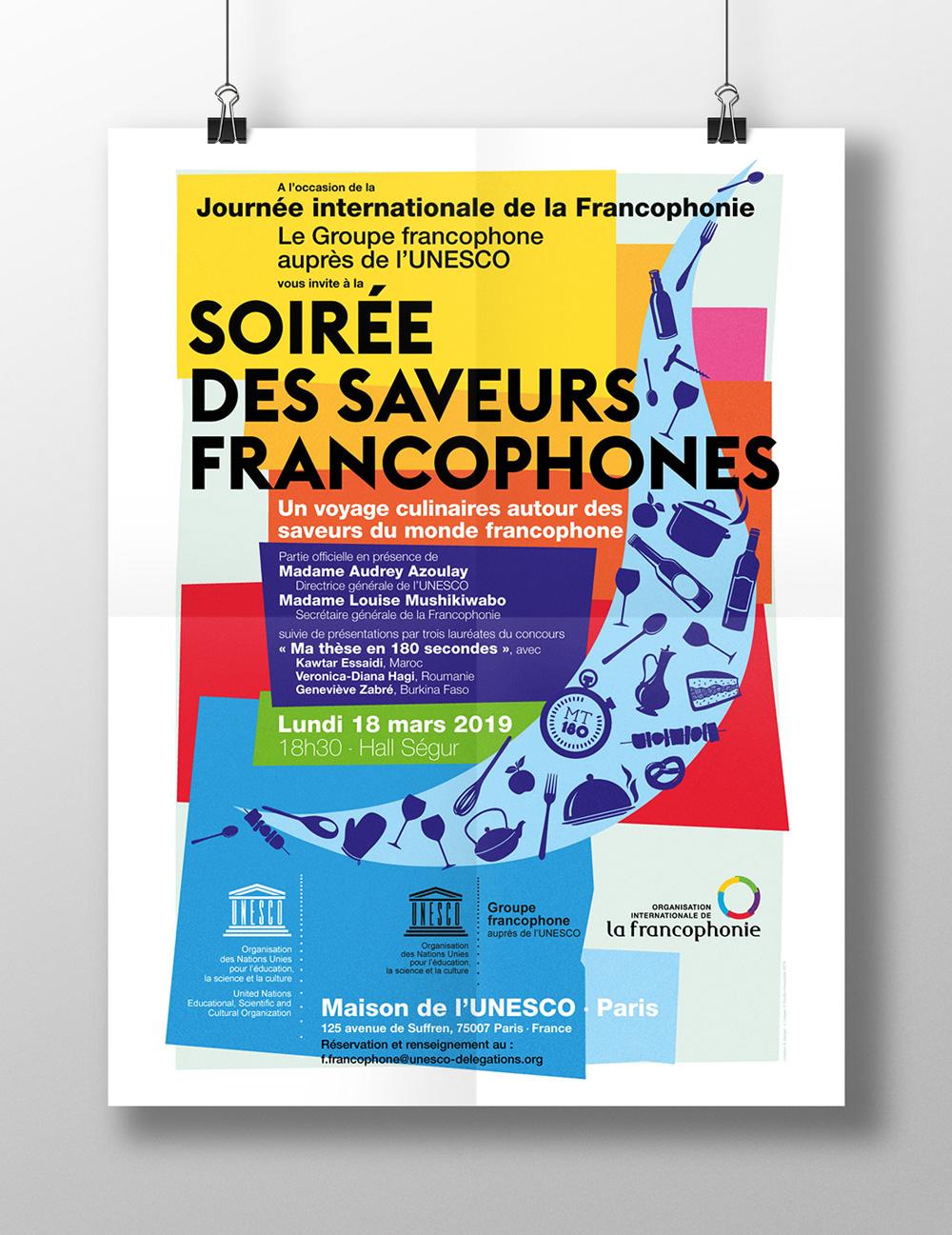 UNESCO Francophonie Communication Agence Si - Affiche Soirée de la francophonie