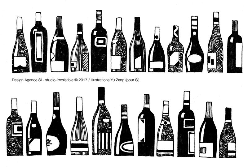 Le Relais Du Vin - Paris Les Halles _Studio-Irresistible_ illustration par Yu Zang