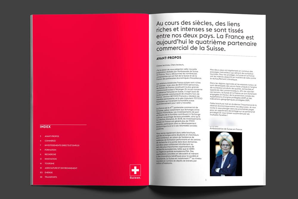 Brochure Ambassade de Suisse en France - Design Agence Si - Studio irresistible Paris par SEMme Livia Leu