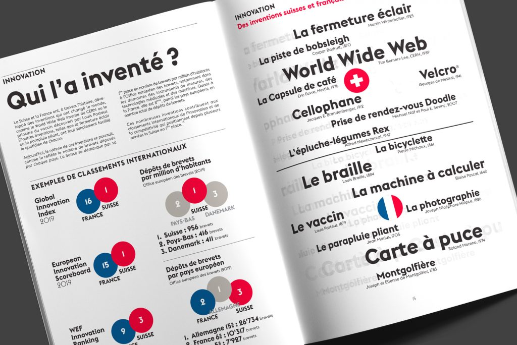 Brochure Ambassade de Suisse en France - Design Agence Si - Studio irresistible Paris