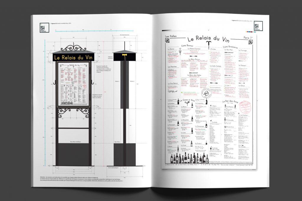 Le Relais du Vin - Paris, par design par Agense Si Paris, vue de l'enseigne